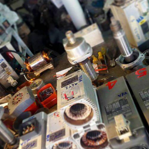 تعمیر تخصصی اسپیندل موتور دستگاه های سی ان سی