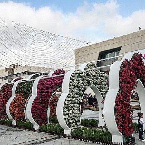 گلدان شهری و المان گل فایبرگلاس