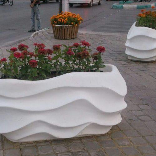 گلدان های فایبرگلاس در طرح مستطیل