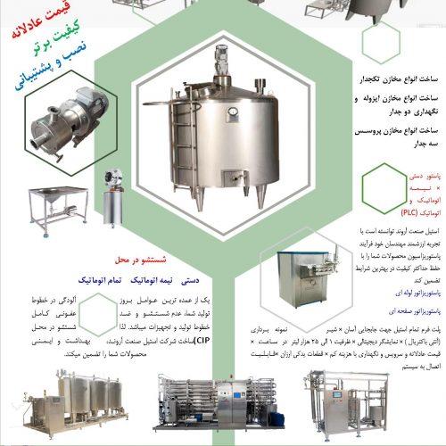 طراحی، ساخت و تامین کلیه ماشین آلات و تجهیزات خطوط صنایع  غذایی
