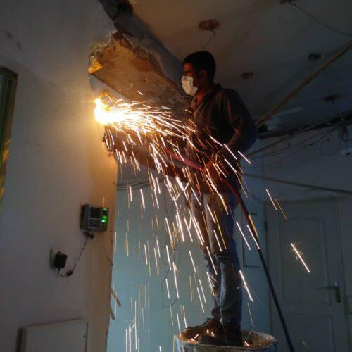 برشکاری آهن با هوابرش شبانه روزی برش آهن باوابرش