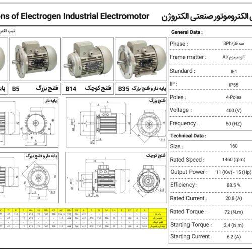 فروش الکتروموتور 11 و 45 کیلو وات الکتروژن